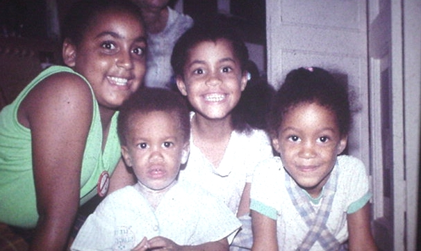 Vanessa, Marguerite, Ketura, and Gerard and Crooked Island in 1984