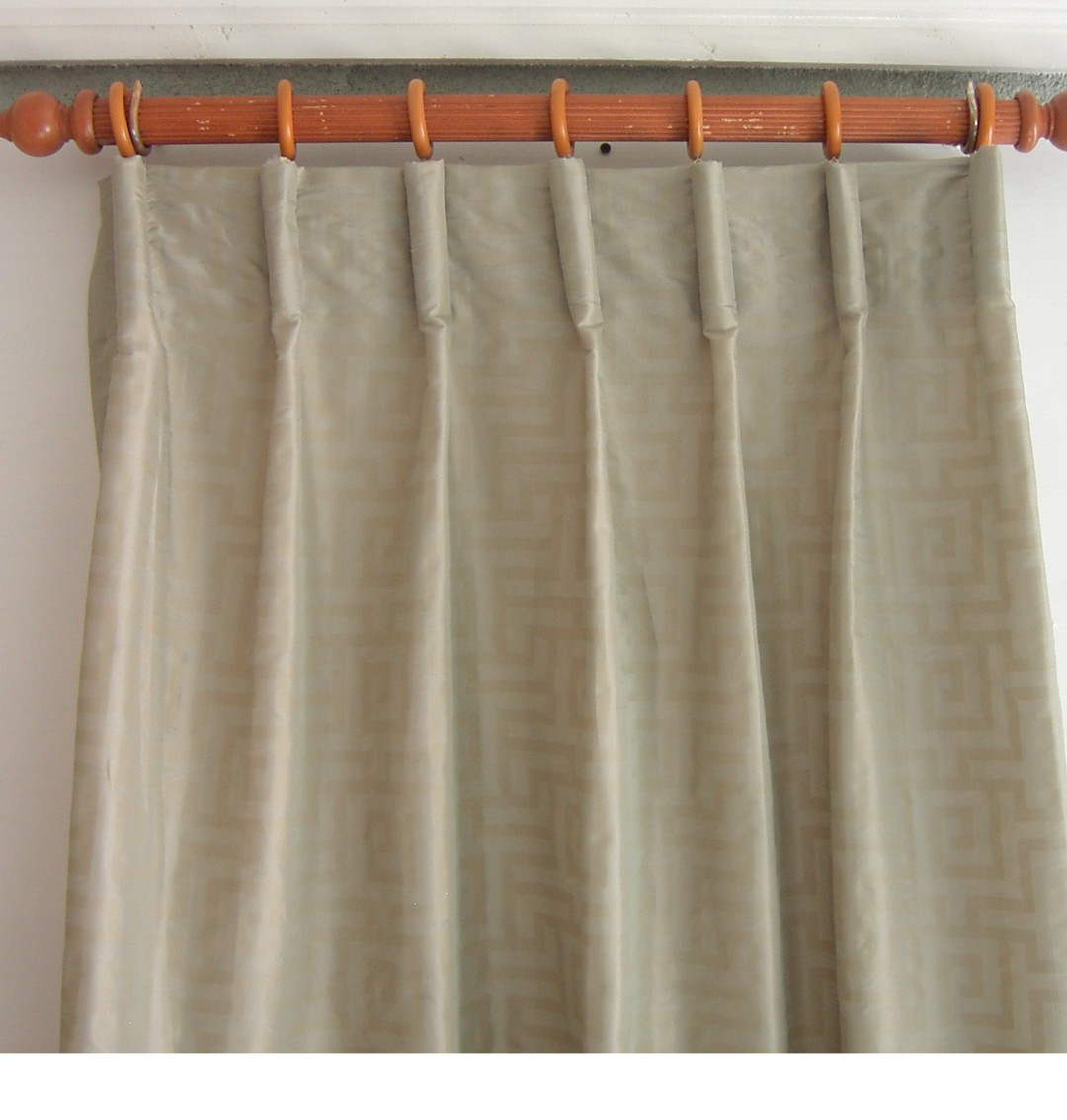 Flat Roman Shades With Curtains